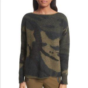 Rag & Bone Sinclair Camo Sweater XS New